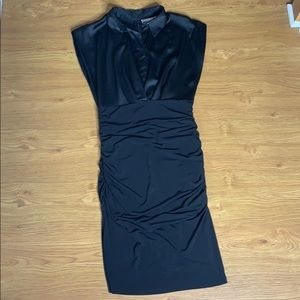 New York & Company Black two Fabric Dress Size S